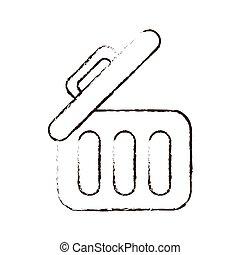 sketch draw trash can web garbage information