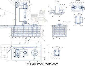 Sketch. The base unit. EPS 10