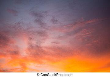 Sky Background on sunrise