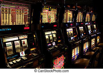 Slot machines in the casino in Las Vegas