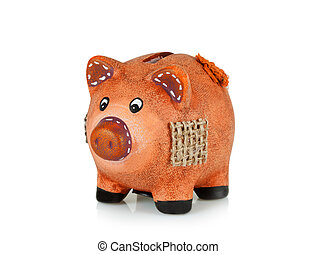 Small clay piggy bank