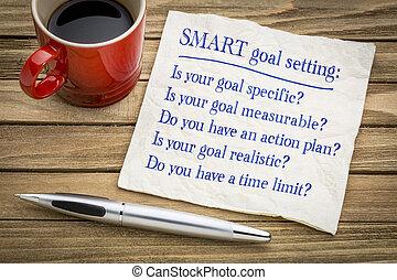 SMART goal setting - napkin concept