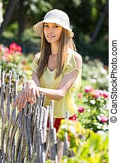girl near fence