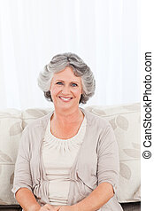 Smiling retired woman