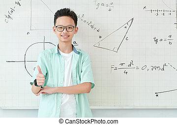 Smiling Vietnamese schoolboy