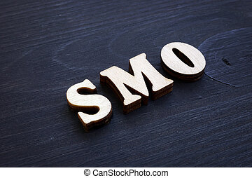 SMO Social Media Optimization from wooden letters.