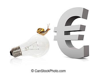 Snail On Bulb Euro