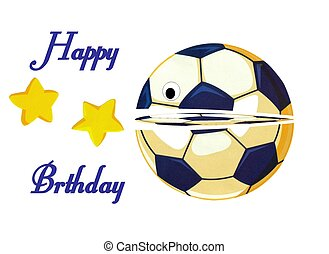 Beautiful soccer happy birhtday card