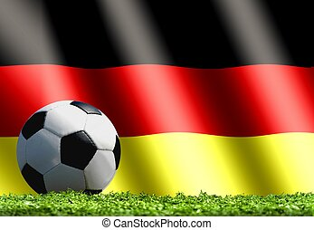 Soccer Ball with Germany Flag