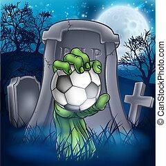 Soccer Zombie Halloween Graveyard Concept
