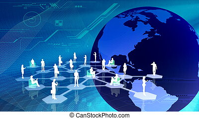 The concept of how people get connected in social network community inside the internet