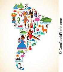 South America love - concept illustration
