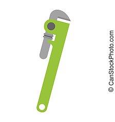 spanner tool repair icon vector illustration