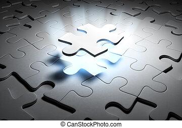 Special puzzle. 3d render image.