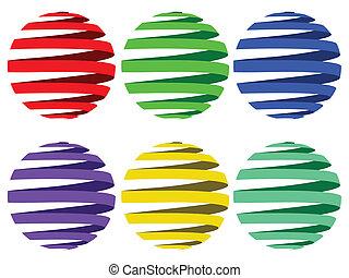 sphere ribbons