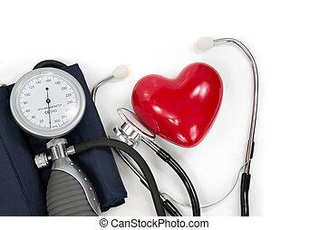 sphygmomanometer with heart