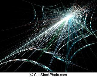 Halloween spider web on black background.