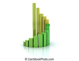 Spiral graph financial growth - orange green