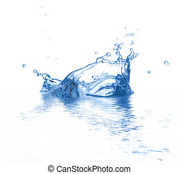 Water is splashing. Use it for concepts.