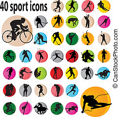 Sport icons. Vector illustration for you design