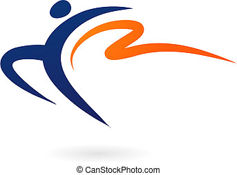 Sport vector figure - gymnastics