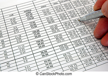 spreadsheet chart