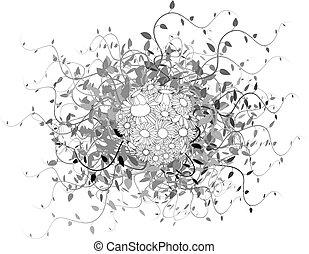 Spring floral sphere