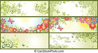 Spring horizontal banners