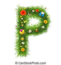"""Spring letter """"P"""""""