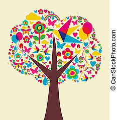 Spring time tree background