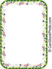 Spring vector illustration frame
