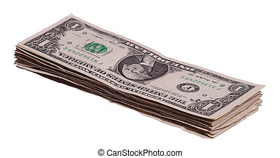 stack of 1 dollars