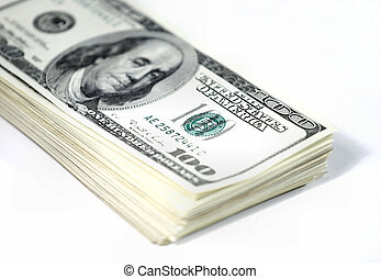 Stack of US dollar bills