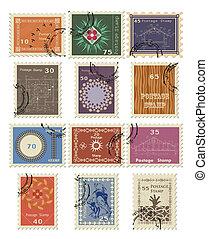 Stamp set for sale. Vector illustration.