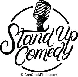 Stand up comedy hand written lettering