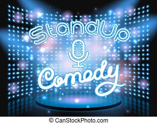 stand up comedy light wall