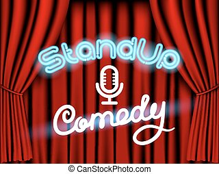 stand up comedy red curtain