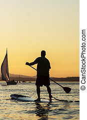 Stand Up Paddle Board-Man