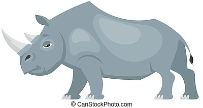 Standing rhinoceros side view.