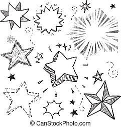 Star and explosion design elements