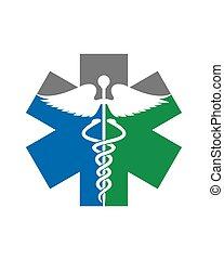 Star of life Caduceus Logo