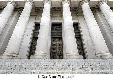 Washington State Capital Historic Building Grand Steps Entrance