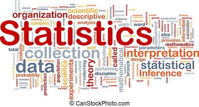 Background concept wordcloud illustration of statistics