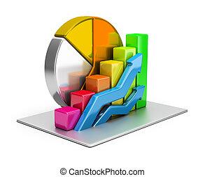 Statistics concept. 3d image. White background.
