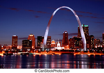st.louis skyline at night