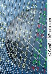 Stock exchange reflection