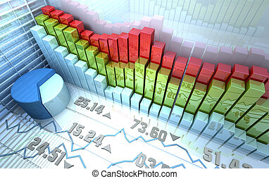 Stock market background