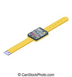 Storage smartwatch info icon, isometric style