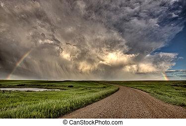 Storm Clouds Prairie Sky Saskatchewan Canada