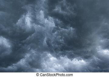 Dark, stormy sky. aRGB.